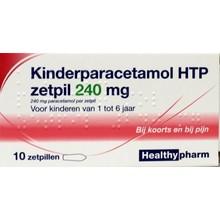 Healthypharm Paracetamol kinderen 240mg Inhoud:10zp