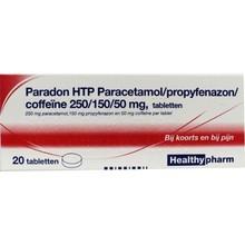 Healthypharm Paradon blister 2 x 10 Inhoud:20tab