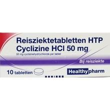 Healthypharm Reisziekte/cyclizine 50mg Inhoud:10tab