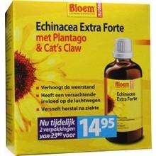 Bloem Echinacea extra forte & cats claw duo Inhoud:2x100