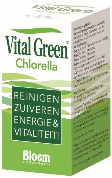 Bloem Chlorella vital green Inhoud:600tab