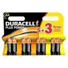 Duracell Plus Power AA 6 + 2 Inhoud:8st