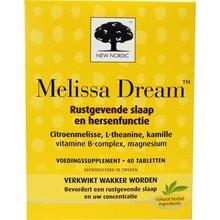 New Nordic Melissa dream Inhoud:40 tabletten