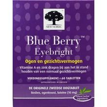 New Nordic Blue berry eye bright Inhoud:60 tabletten