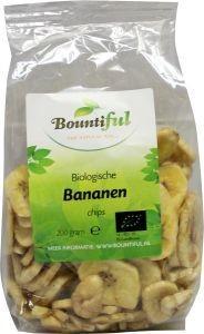 bountiful Bananen chips bio Inhoud: 200 gram