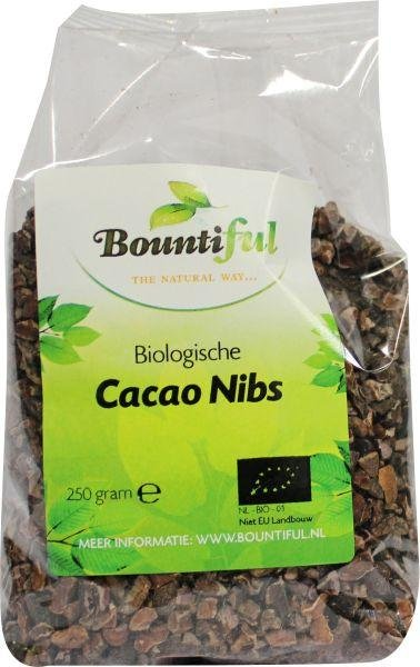 bountiful Cacao nibs bio Inhoud:250 gram