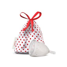 Ladycup Menstruatie cup transparant maat L