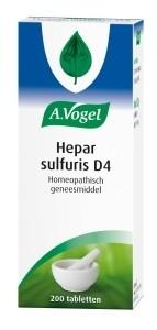 A. Vogel Hepar sulfuris D4 Inhoud: 200 tabletten
