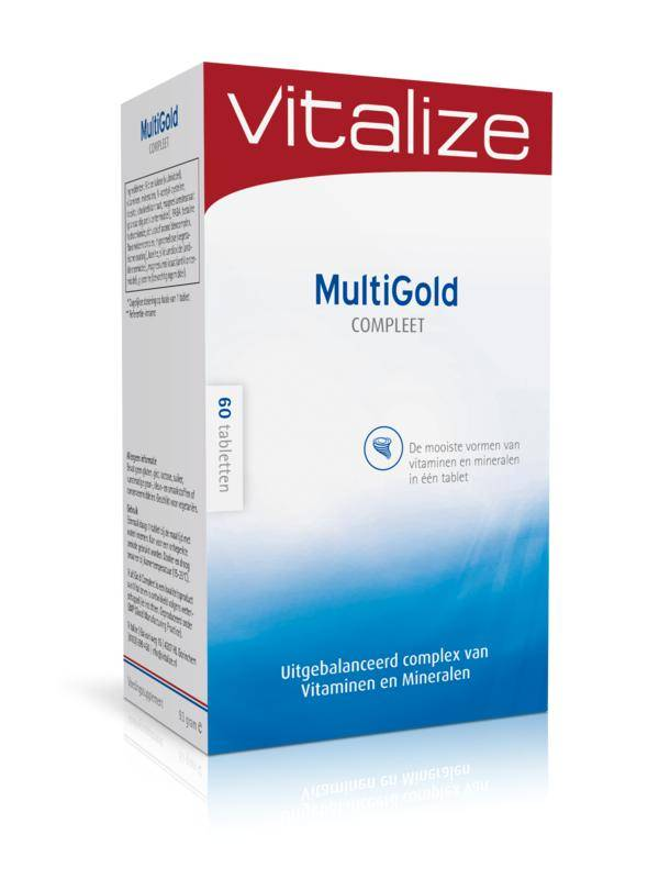 Vitalize Multigold compleet Inhoud: 60tabletten