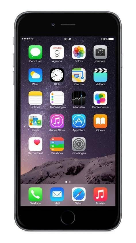 Afbeelding van iPhone 6 Plus 16GB Zwart