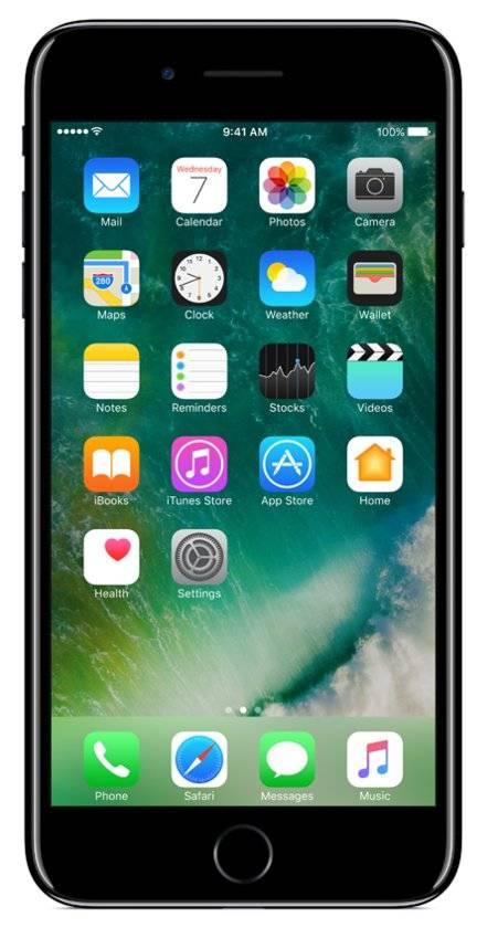 iPhone 7 Plus 256GB Gitzwart