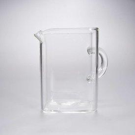 Ausschankgefäß eckig - Glas