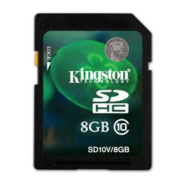 Kingston 8GB class 10 SD kaart
