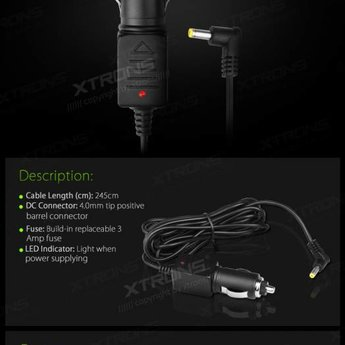 Xtrons CL007 12 Volt adapter