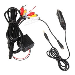 Xtrons CL004 12 Volt adapter and composite plug