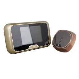 "Digital Doorspy with Doorbell and 3"" LCD Bronze"