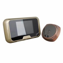 """Digitale Deurspion met Deurbel en 3"""" LCD Brons"""