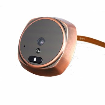 "Digital Doorspy with Doorbell and 3"" LCD Screen Bronze"