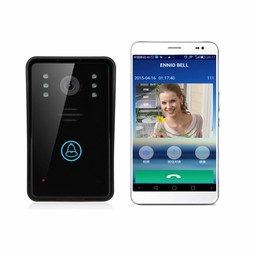 WiFi Doorbell with Camera Black