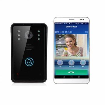 WiFi Doorbell with Camera Black incl. Smartphone App