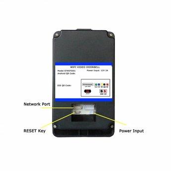 WiFi Deurbel met Camera Zwart incl. Losse Gong + Smartphone App