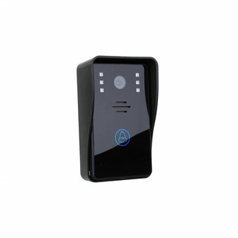 "Doorbell with Camera 7"" LCD Display Black"