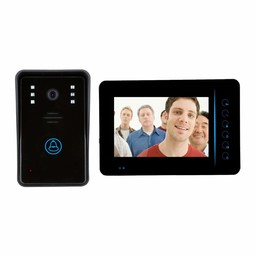 "Doorbell with Camera 7"" LCD Black"