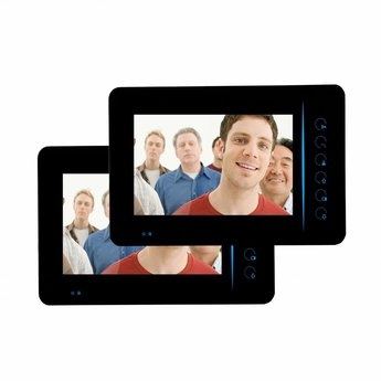 "Doorbell with Camera 7"" LCD Display Black - Duo Set"