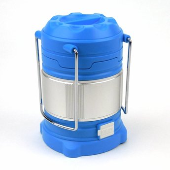 Extendable LED Camping Lantern 185 Lumen - Blue with battery