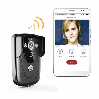 Wifi Doorbell with Camera Pro Anthracite incl. Smartphone App