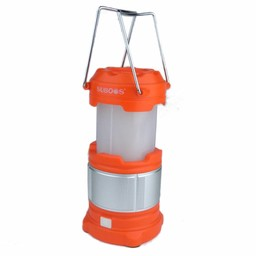 Extendable LED Camping lantern 185 lumen - Orange