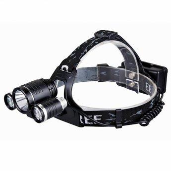 Aluminium LED Hoofdlamp/Fietslamp Extreme - Zwart