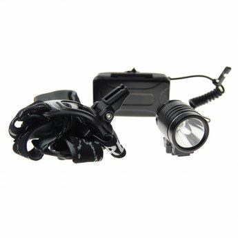 Aluminium LED Hoofdlamp Ultra - 370 lm - waterdicht - Zwart
