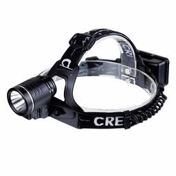 Aluminium LED Hoofdlamp Ultra - 370 lumen  - Zwart