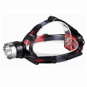 Aluminium LED Hoofdlamp - 220 lumen - waterdicht - Zwart