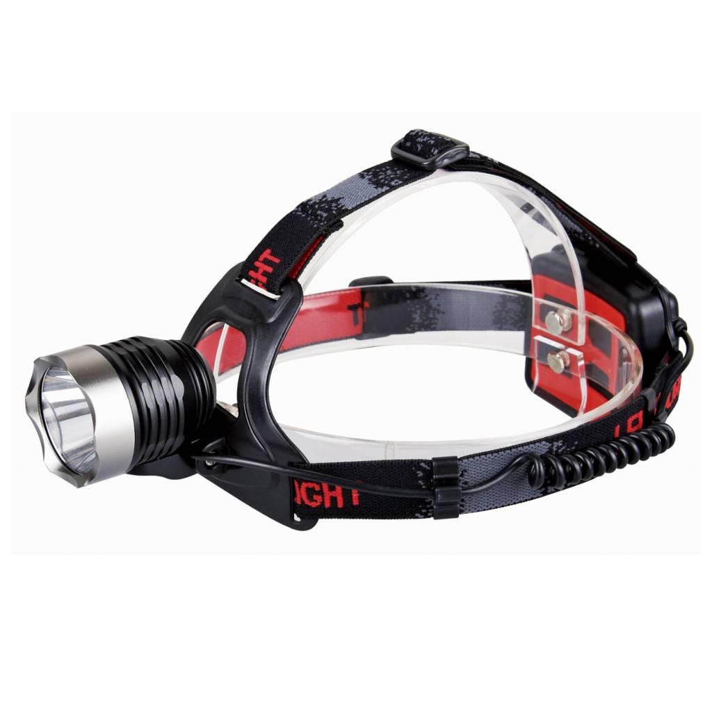 Aluminium LED Hoofdlamp - 220 lumen - Zwart
