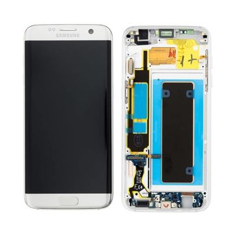 Samsung Galaxy S7 Edge SM-G935F Lcd Display Zilver GH97-18533B Service Pack