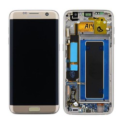 Samsung Galaxy S7 Edge Lcd Display Goud GH97-18533C