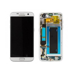 Samsung Galaxy S7 Edge Lcd Display White GH97-18533D