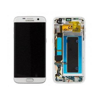 Samsung Galaxy S7 Edge SM-G935F Lcd Display White GH97-18533D Service Pack