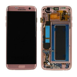 Samsung Galaxy S7 Edge Lcd Display Roze Goud GH97-18533E