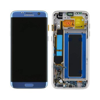Samsung Galaxy S7 Edge SM-G935F Lcd Display Blauw GH97-18533G Service Pack
