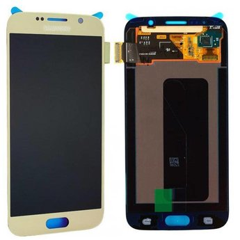 Samsung Galaxy S6 SM-G920F Lcd Display Gold GH97-17260C Service Pack