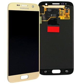 Samsung Galaxy S7 SM-G930F Lcd Display Gold GH97-18523C Service Pack