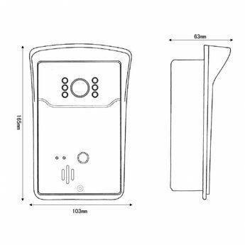 Video Doorbell with Camera and Wifi incl. separate Gong and Antenna