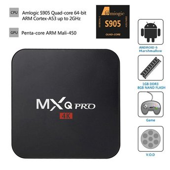 MXQ Pro Android TV Box met Keyboard