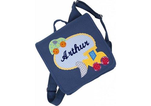 crepes suzette Kindergartentasche mit Namen, Motiv: Bagger