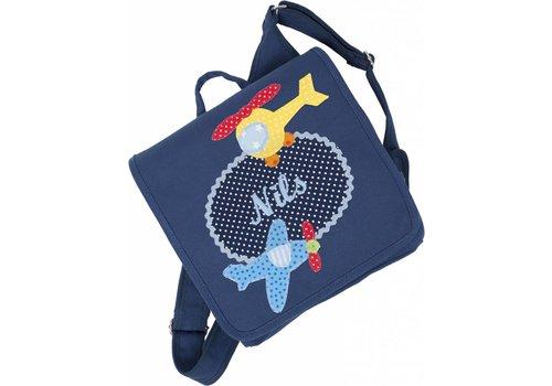 crepes suzette Kindergartentasche mit Namen, Motiv:  Hubschrauber
