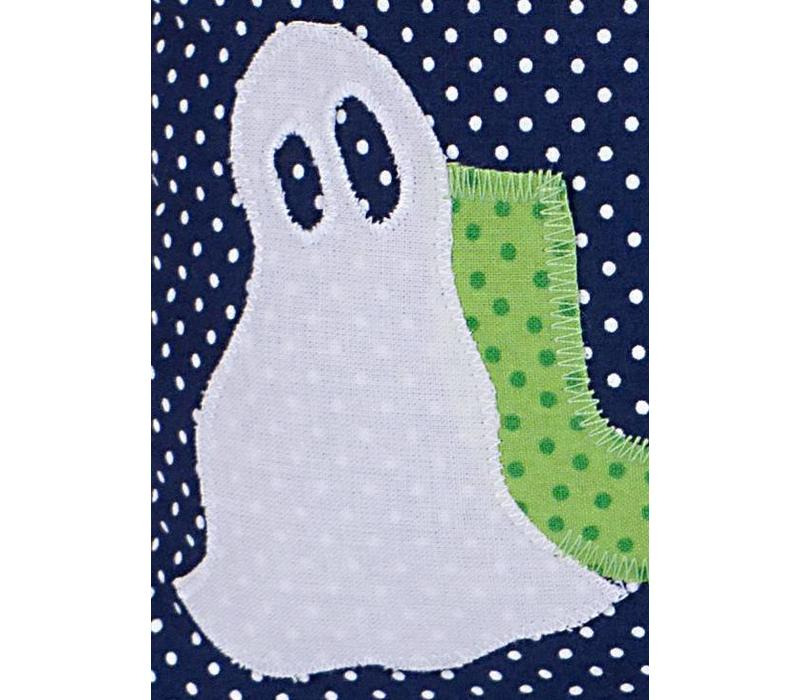 Namenskissen  - Huh Buh Geisterschloss samt Gespenst, Farbe: Dunkelblau