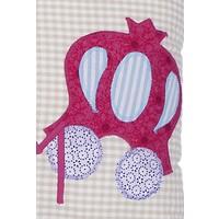 Kissen mit Namen bestickt für kleine Prinzessinnen, Farbe: Zart-Beige